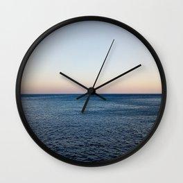 Where the Ocean meets the Sky Wall Clock