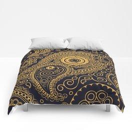 Vintage Pattern Gold Comforters