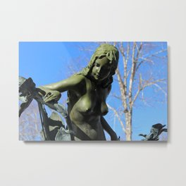 Naked in nature Metal Print