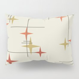 Mid Century Modern Stars Pillow Sham