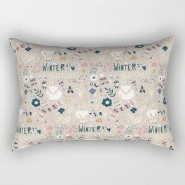 Winter garden pattern 004 Rectangular Pillow