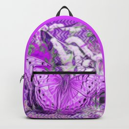 Ultra-violet butterfly and abstract background Backpack