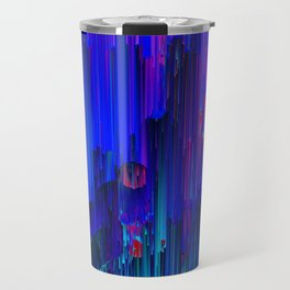 In the Midst - Abstract Glitchy Pixel Art Travel Mug
