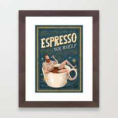 ESPRESSO YOURSELF Framed Art Print