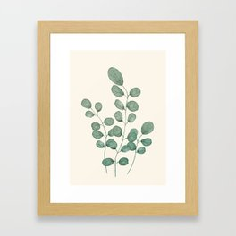 Watercolor Eucalyptus Framed Art Print