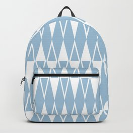 Mid Century Modern Diamond Pattern Pale Blue 234 Backpack