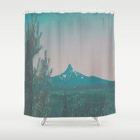 washington Shower Curtains featuring Mount Washington by Hannah Kemp