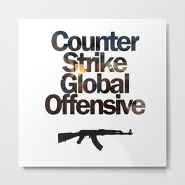 Counter Strike - Global Offensive  Metal Print