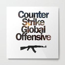 Counter Strike - Global Offensive  Metal Print