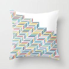 Herringbone Color Part Throw Pillow