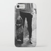 skateboard iPhone & iPod Cases featuring SkateBoard Girl by amit sakal