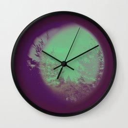 Tree Purple and Teal Wall Clock