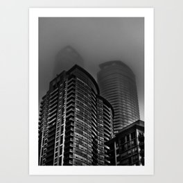 Downtown Toronto Fogfest No 22 Art Print