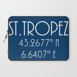 St. Tropez Latitude Longitude Laptop Sleeve