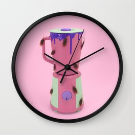 Cockroach smoothie Wall Clock
