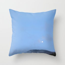 moonlight mountains Throw Pillow