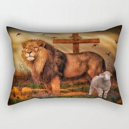 The Lion And The Lamb Rectangular Pillow