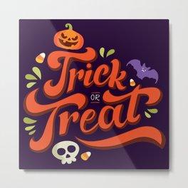 Happy Halloween Trick or Treat Time Metal Print