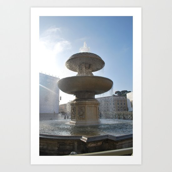 Vatican City Fountain Art Print