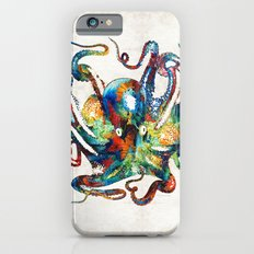 Colorful Octopus Art by Sharon Cummings iPhone 6 Slim Case