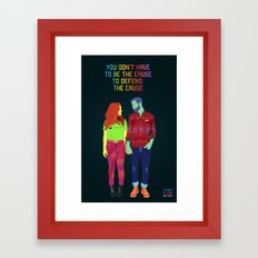 You don't have to be the cause Framed Art Print