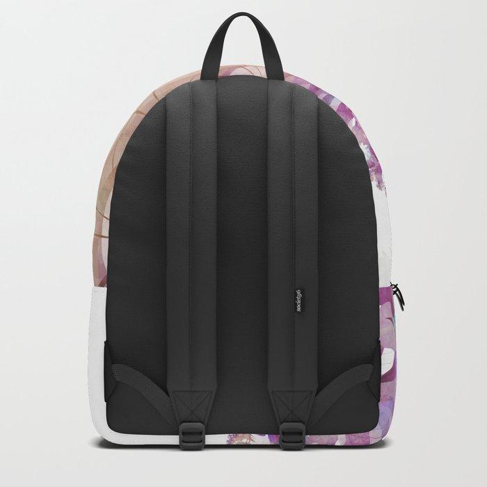 Watercolor Fibonacci Spiral Backpack