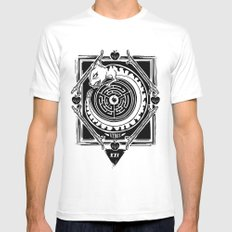 MambaSphynx White Mens Fitted Tee MEDIUM