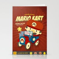 mario kart Stationery Cards featuring mario kart vintage by danvinci
