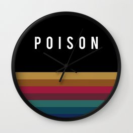 Poison Rainbow Wall Clock