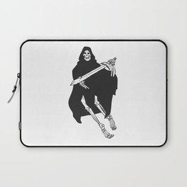 Grim cartoon - Reaper cartoon - Gothic skeleton Laptop Sleeve