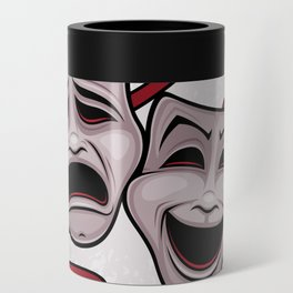 Comedy And Tragedy Theater Masks Can Cooler