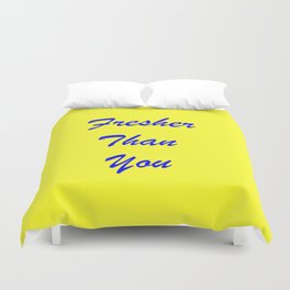fresher THAN you Yellow & Blue Duvet Cover