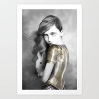 alice x zhang Art Prints featuring Alice by Elena Mir