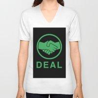 swedish V-neck T-shirts featuring Swedish deal by  kremfresh