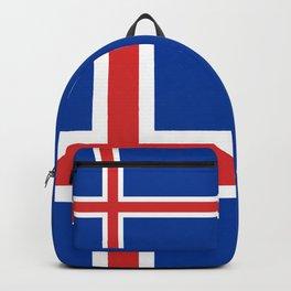 Flag of Iceland - High Quality Image Backpack