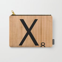 Scrabble Letter Tile - X Carry-All Pouch