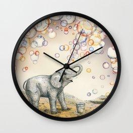 Elephant Bubble Dream Wall Clock