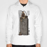 hallion Hoodies featuring ....to find a way out! by Karen Hallion Illustrations