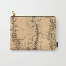Map Of The Hudson River 1777 Carry-All Pouch