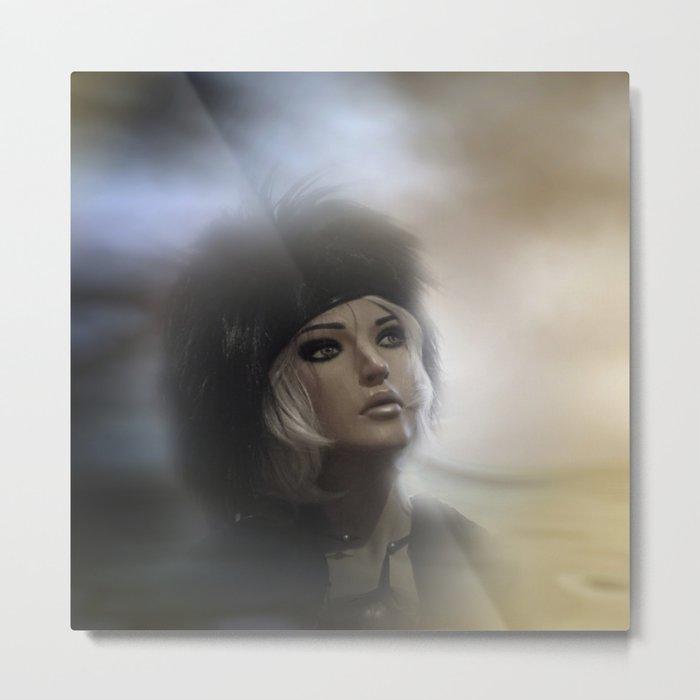 fashiondoll on pastell background -2- Metal Print