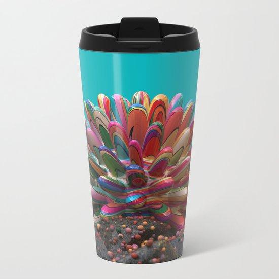 Simple Coral Metal Travel Mug