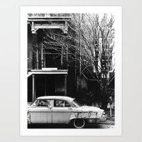 Silver Car Art Print