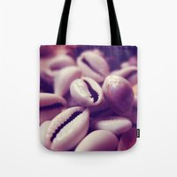 shells Tote Bags featuring Shells by Rafael&Arty
