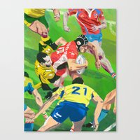 rugby Canvas Prints featuring Rugby by Ciaran Murphy