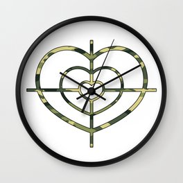 Heartscope Camo Wall Clock