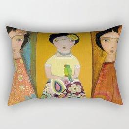 Las Tres Fridas by Flor Larios Rectangular Pillow