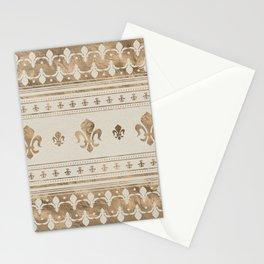 Fleur-de-lis Pastel Gold Stationery Cards