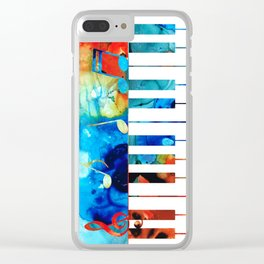 Colorful Piano Art by Sharon Cummings Clear iPhone Case