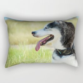 Husky Profile Rectangular Pillow