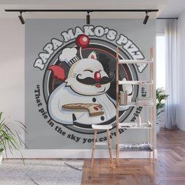 Papa Mako's Pizza Wall Mural